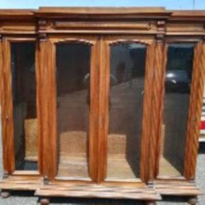 BIBLIOTHEQUE VITREE 4 portes meuble ancien