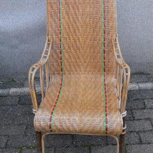 fauteuil rotin et bois courbé