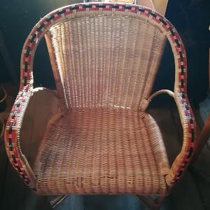 fauteuil rotin vintage année 40/50